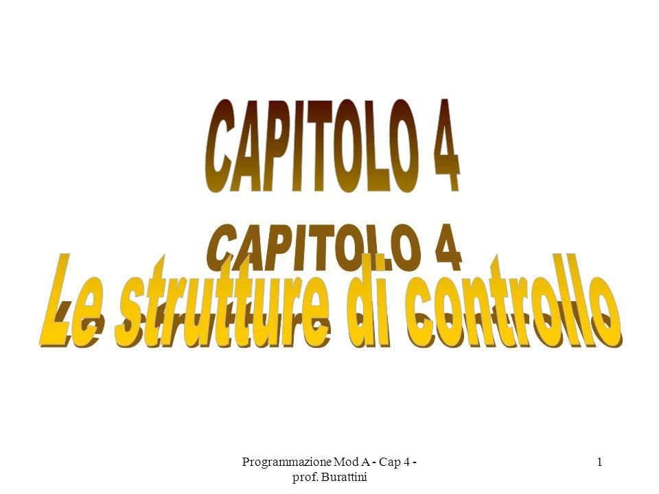Programmazione Mod A - Cap 4 - prof. Burattini 1