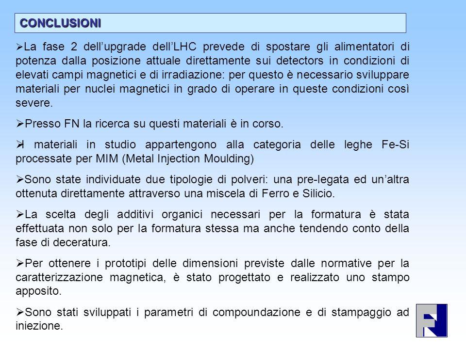 CONCLUSIONI La fase 2 dellupgrade dellLHC prevede di spostare gli alimentatori di potenza dalla posizione attuale direttamente sui detectors in condiz