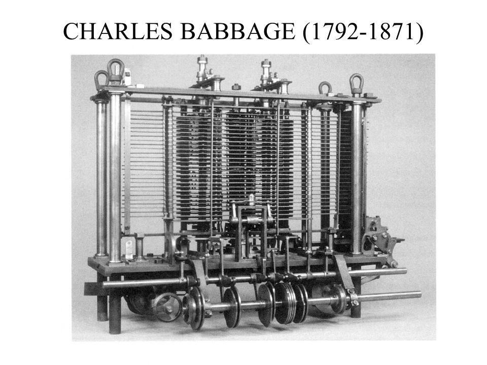 Program. Mod A - Cap. 1 prof. Burattini 18 CHARLES BABBAGE (1792-1871)