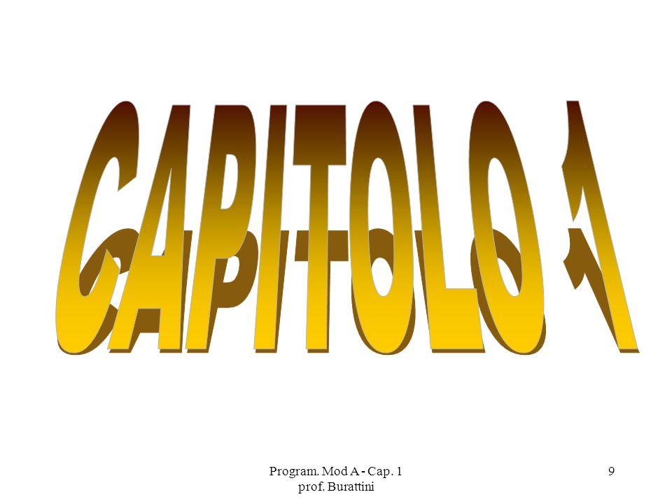 Program. Mod A - Cap. 1 prof. Burattini 9