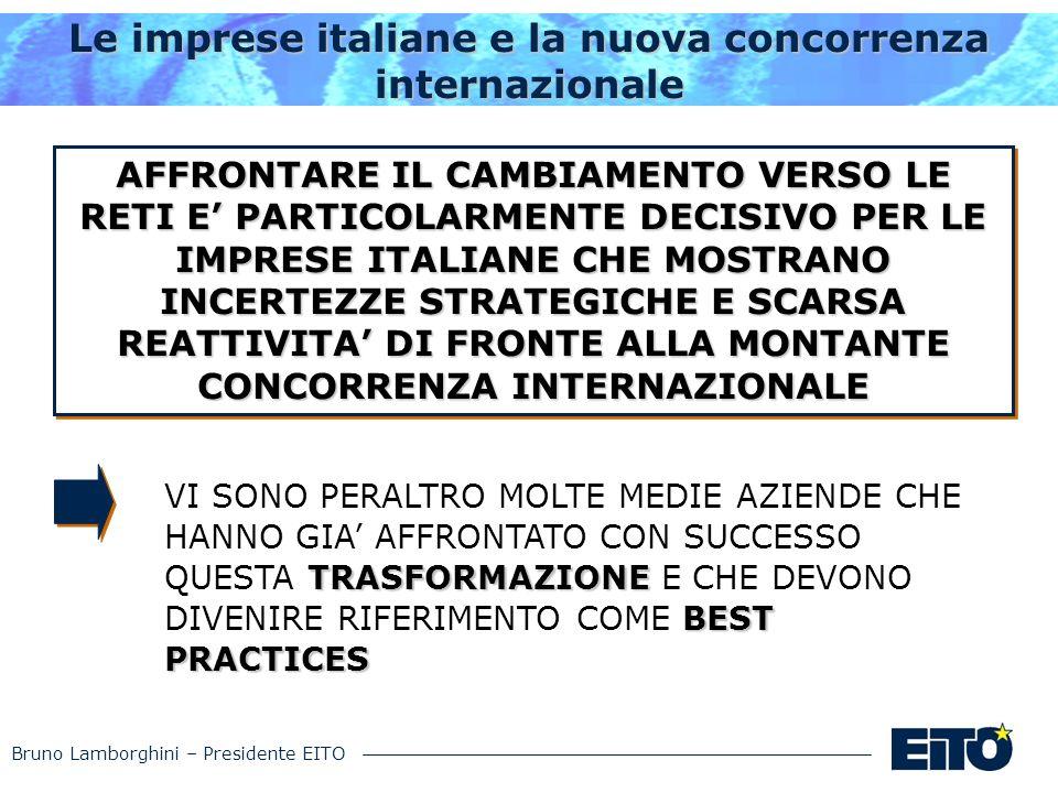Bruno Lamborghini – Presidente EITO Le imprese italiane e la nuova concorrenza internazionale TRASFORMAZIONE BEST PRACTICES VI SONO PERALTRO MOLTE MED