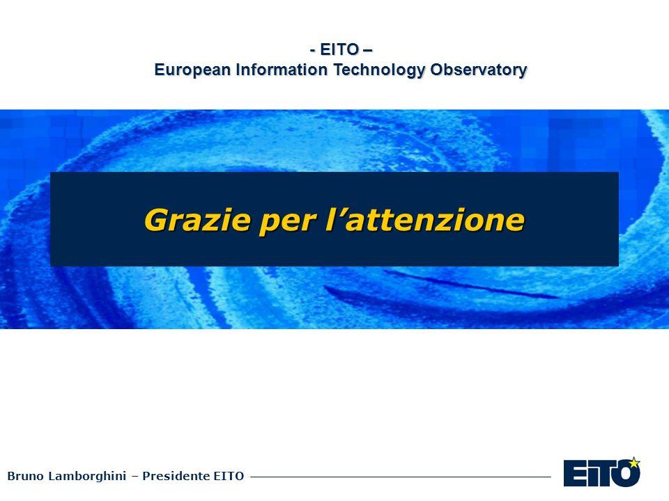 Bruno Lamborghini – Presidente EITO Grazie per lattenzione - EITO – European Information Technology Observatory