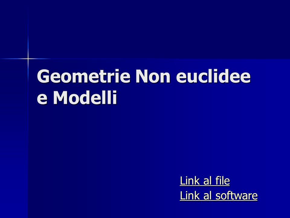 Geometrie Non euclidee e Modelli Link al file Link al file Link al software Link al software