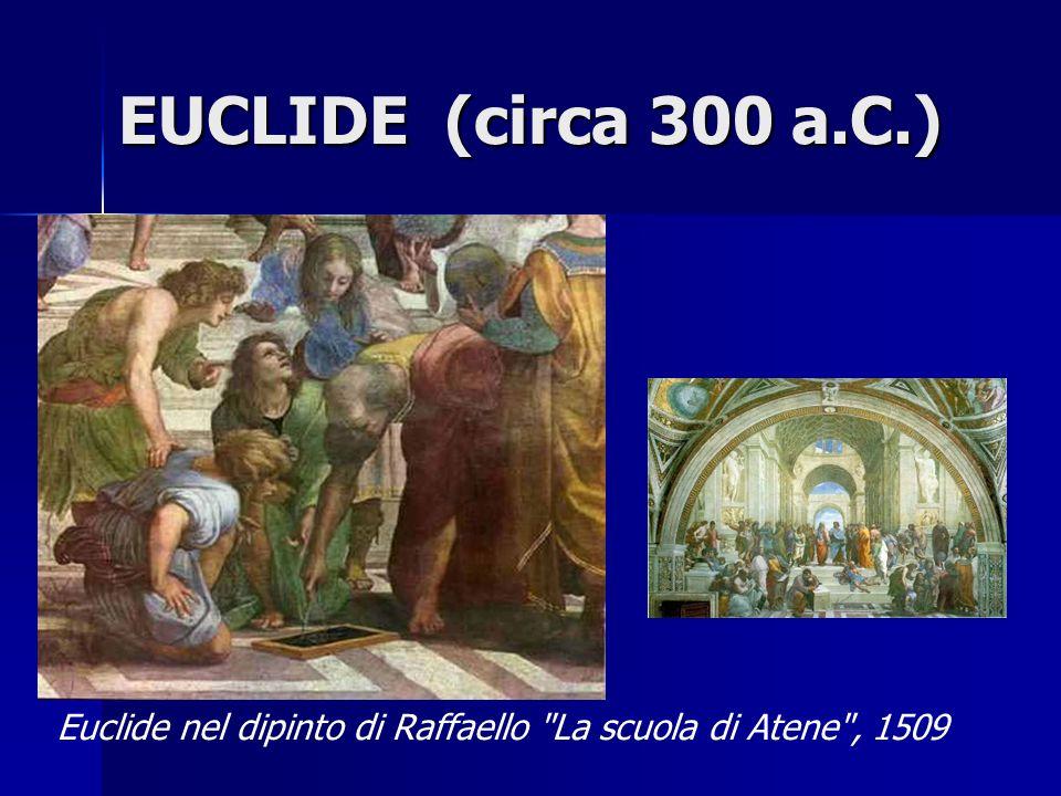 EUCLIDE (circa 300 a.C.) Euclide nel dipinto di Raffaello