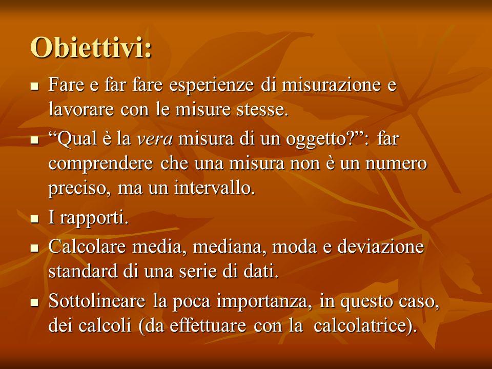 Conclusioni dellattività: Quale misura statistica (moda, mediana,…) è la più adatta alla nostra attività.