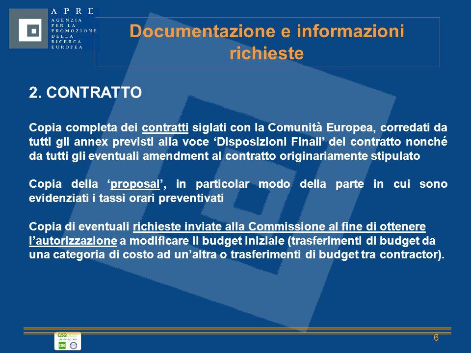 6 Documentazione e informazioni richieste 2.