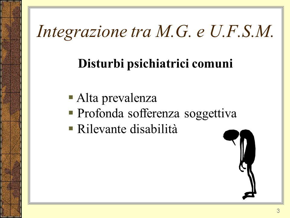 14 Percorso di collaborazione tra MG e Psichiatria in Valdichiana Parliamoc i Collaboriam o