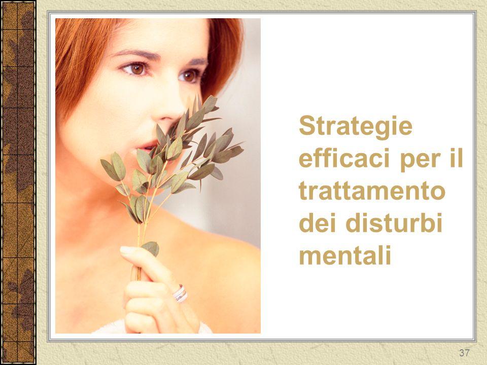 37 Strategie efficaci per il trattamento dei disturbi mentali