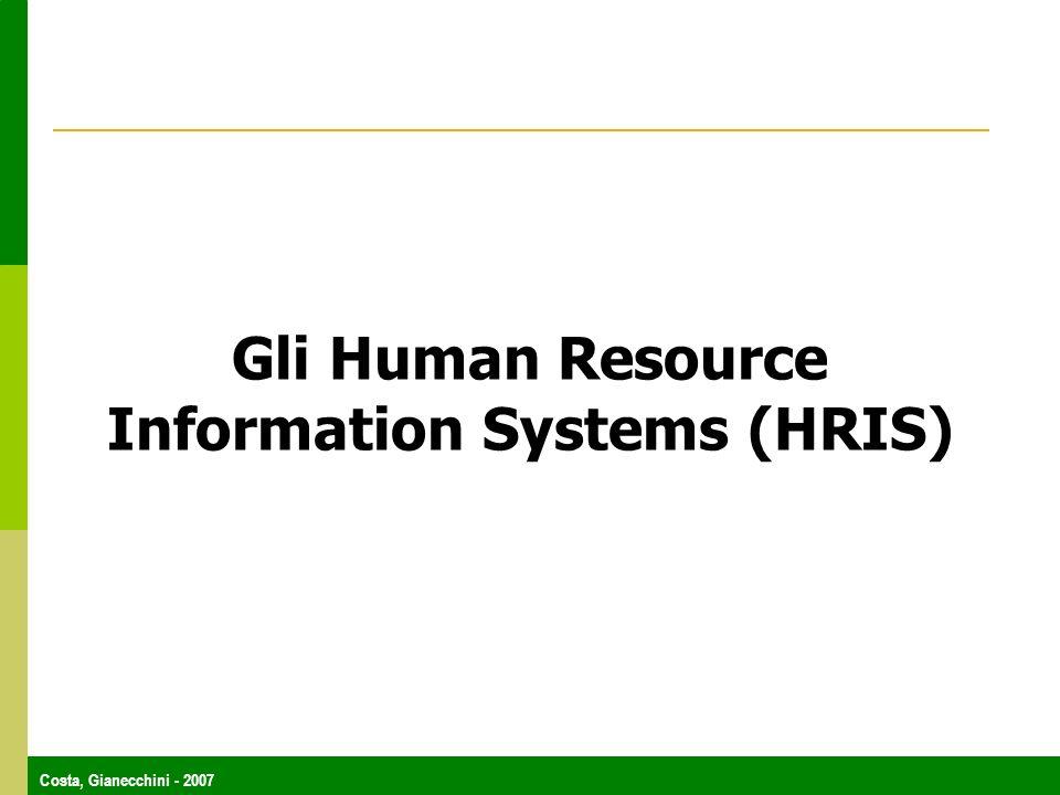Costa, Gianecchini - 2007 Gli Human Resource Information Systems (HRIS)