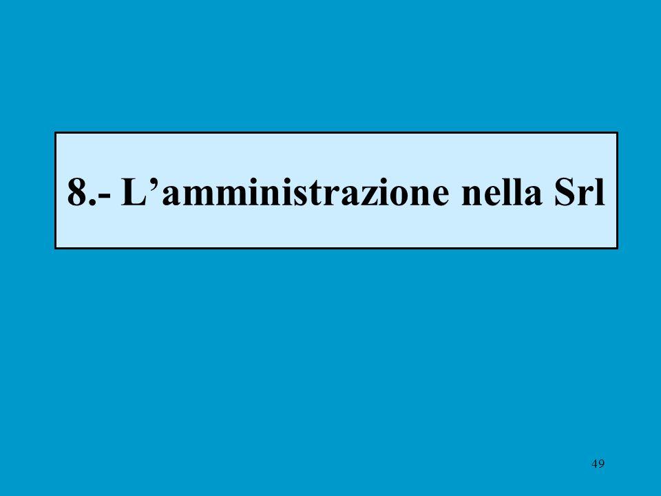 49 8.- Lamministrazione nella Srl