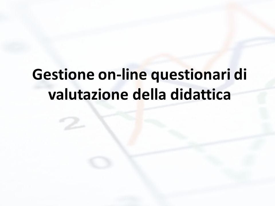 Gestione on-line questionari di valutazione della didattica