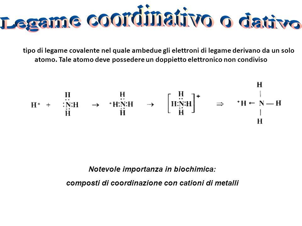 È un tipo di legame covalente nel quale ambedue gli elettroni di legame derivano da un solo atomo.