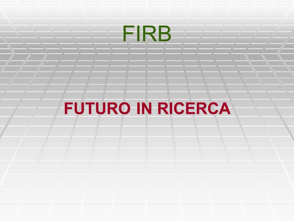 LINEE DINTERVENTO 1/2 in particolare, in caso di successo nel FIRB, il giovane ricercatore non potrà imputare mesi (e relativi costi) su progetti PRIN, FIRB, ecc.
