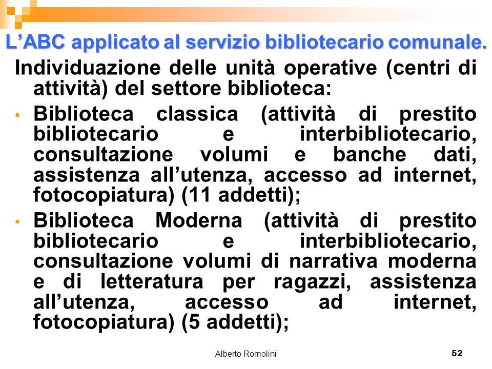 Alberto Romolini52 LABC applicato al servizio bibliotecario comunale.