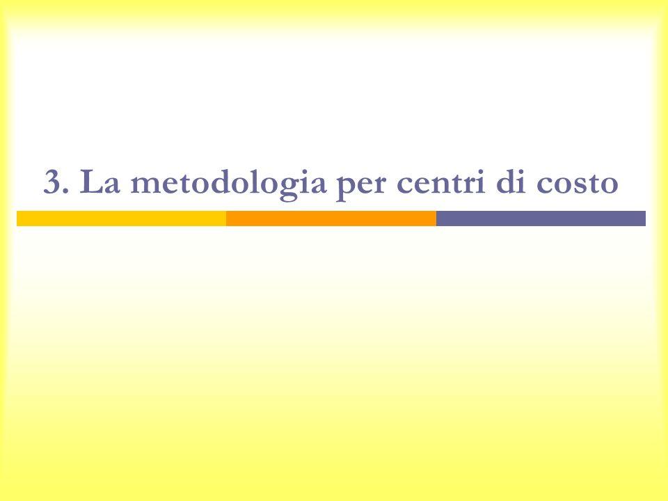 3. La metodologia per centri di costo