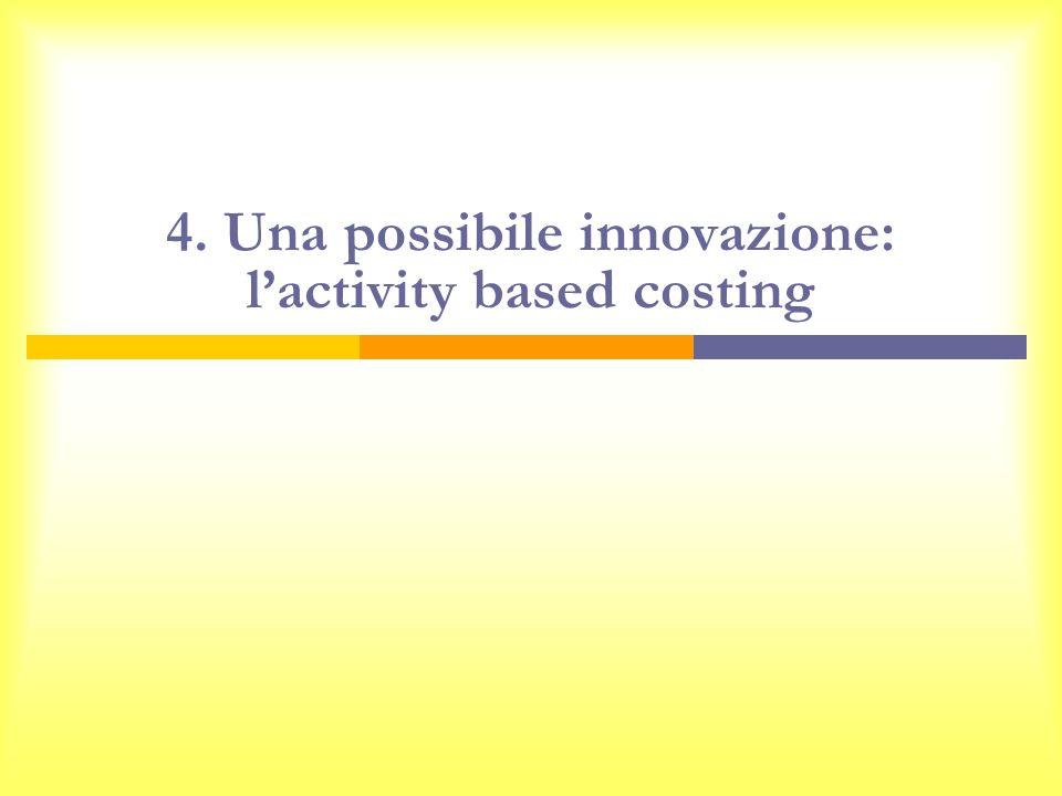 4. Una possibile innovazione: lactivity based costing