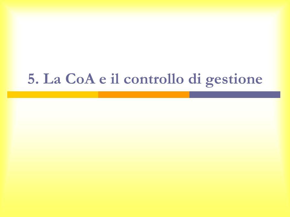 5. La CoA e il controllo di gestione