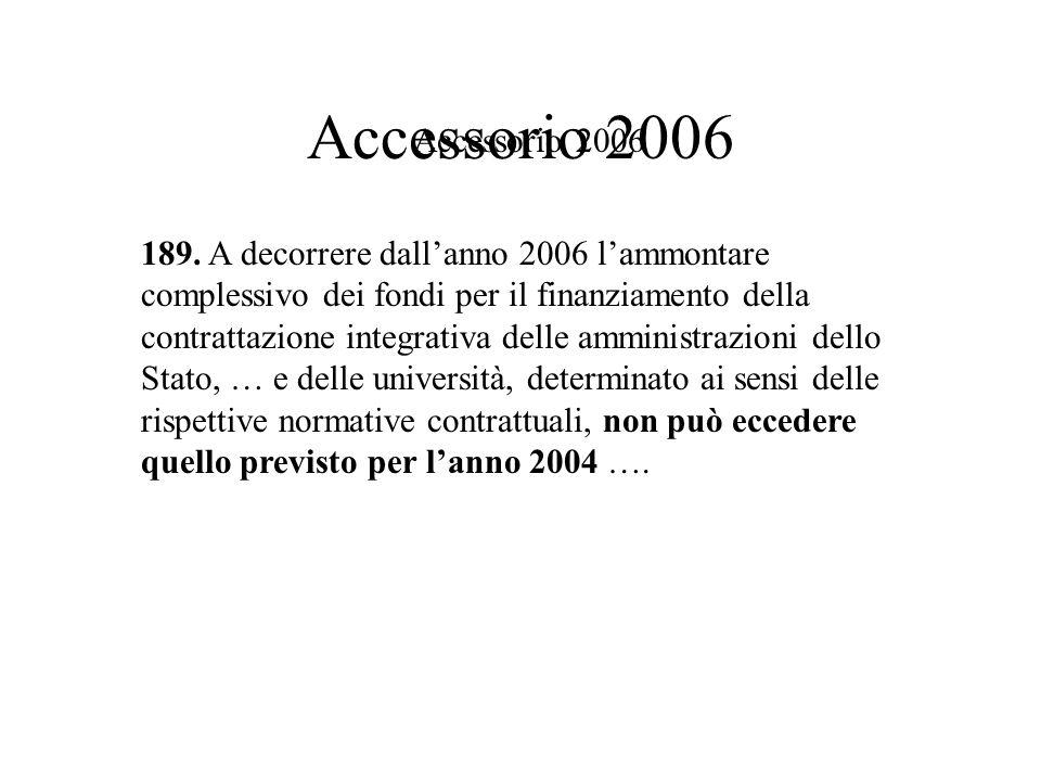 Trattamento Accessorio personale Tecnico Amministrativo ANNI 2004, 2005-2006 TOTALE ACCESSORIO 200420052006 1.625.4221.954.8911.686.084