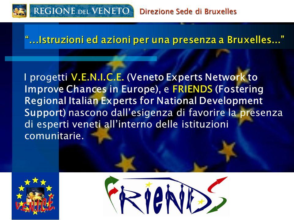 ...Istruzioni ed azioni per una presenza a Bruxelles... I progetti V.E.N.I.C.E. (Veneto Experts Network to Improve Chances in Europe), e FRIENDS (Fost