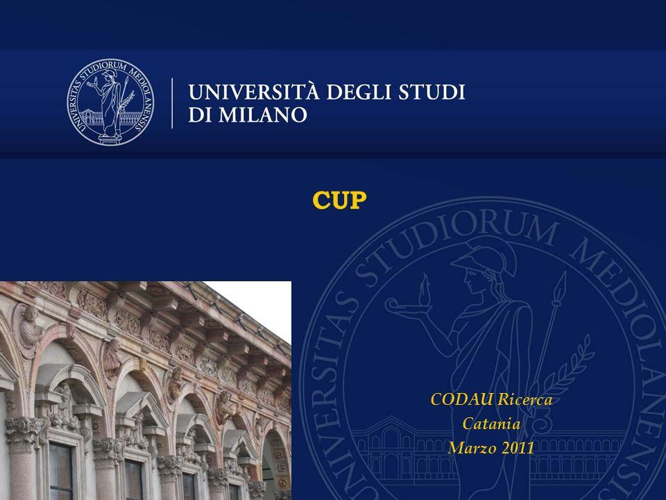 CUP CODAU Ricerca Catania Marzo 2011