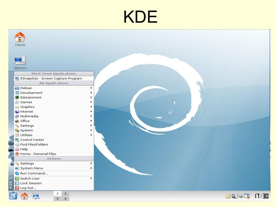 Aprire un terminale KDE GNOME
