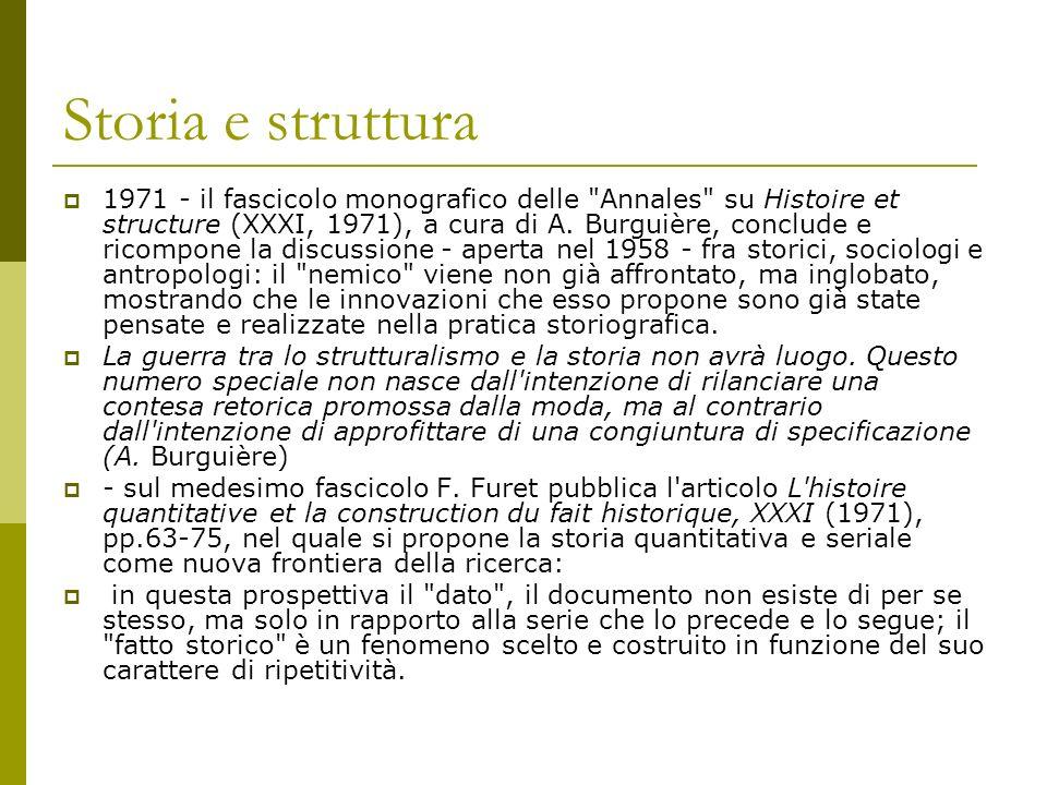 Storia e struttura 1971 - il fascicolo monografico delle