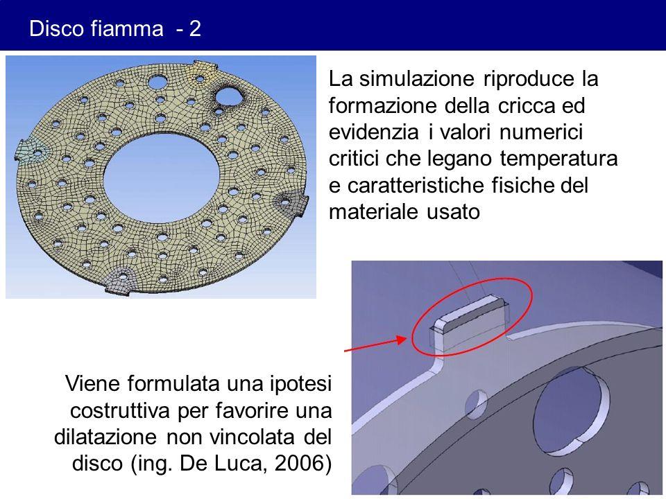 La simulazione riproduce la formazione della cricca ed evidenzia i valori numerici critici che legano temperatura e caratteristiche fisiche del materi