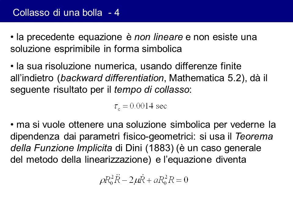 la precedente equazione è non lineare e non esiste una soluzione esprimibile in forma simbolica la sua risoluzione numerica, usando differenze finite