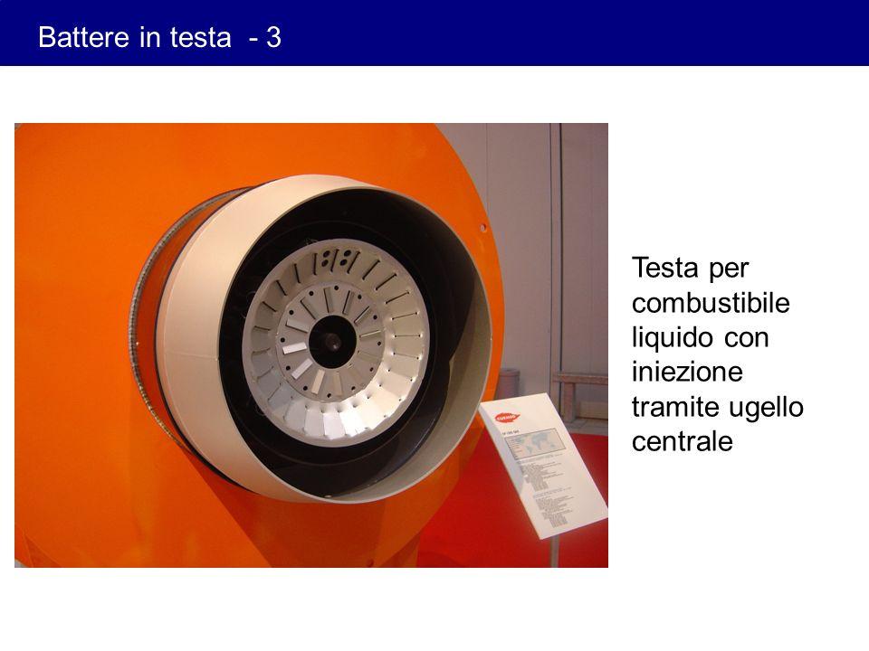 Testa per combustibile liquido con iniezione tramite ugello centrale Battere in testa - 3
