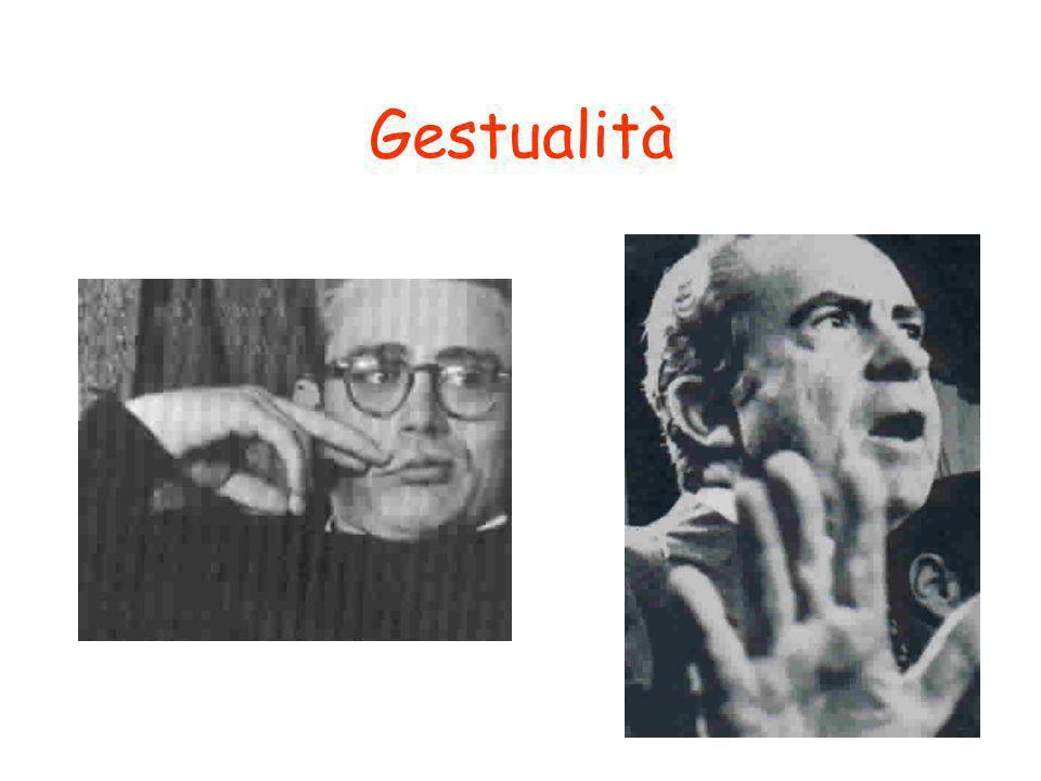 18 Gestualità GestureGesture. 1. A speaking or listening cue