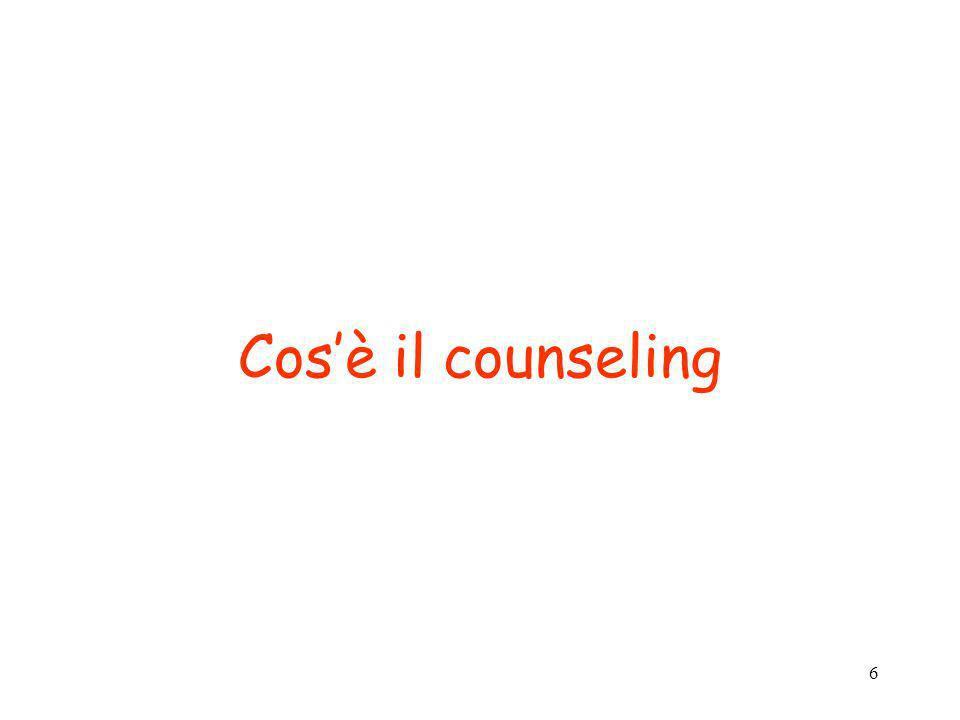 6 Cosè il counseling