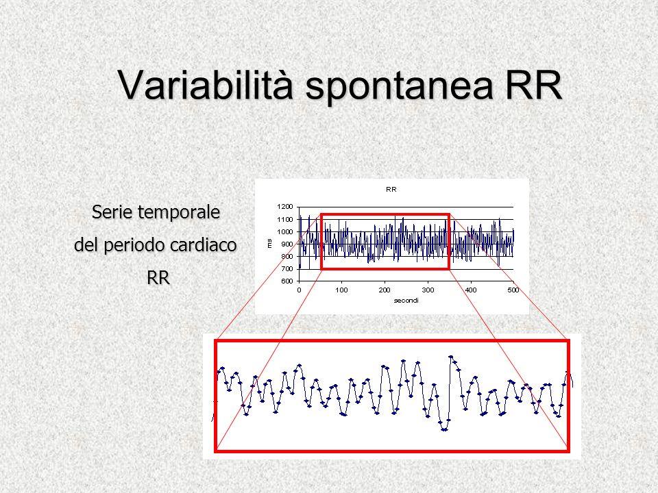 Variabilità spontanea RR Serie temporale del periodo cardiaco RR RR