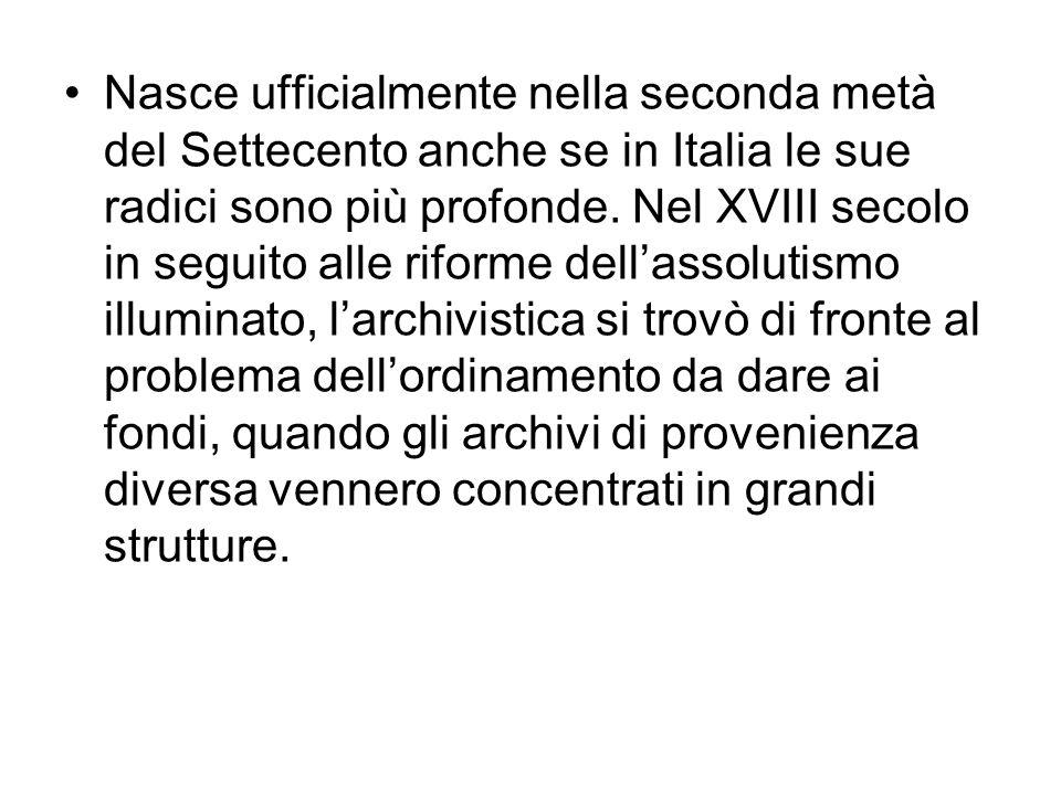 Nasce ufficialmente nella seconda metà del Settecento anche se in Italia le sue radici sono più profonde. Nel XVIII secolo in seguito alle riforme del