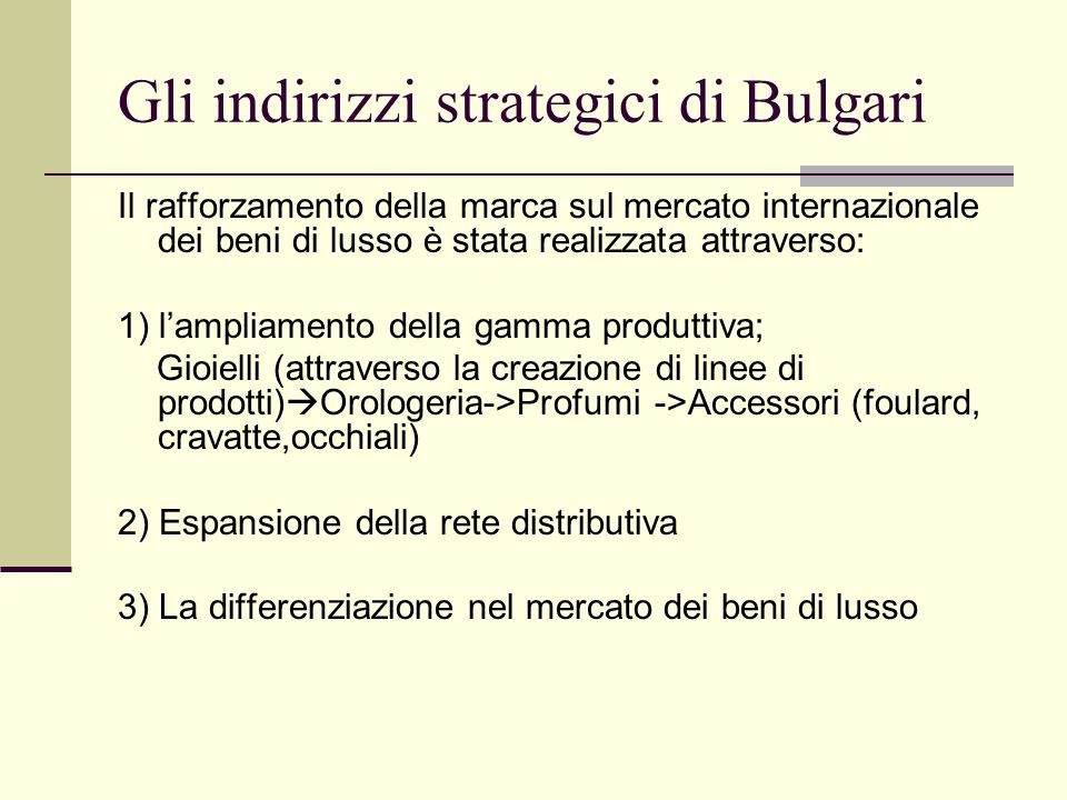 Risultati economici-finanziari (2000- 2004) Product category sales: 04 03 02 01 00 Jewels 41.4%41%38%38%34% Watches 31.0%32%37.8%39%46% Perfume 18.6%18%17.2%16%14% Accessories7.5%7%5.2%5% 4% Royalties1.5%2%1.8%2%2%