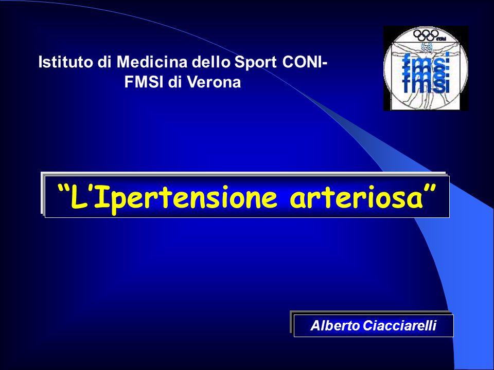 LIpertensione arteriosa Istituto di Medicina dello Sport CONI- FMSI di Verona Alberto Ciacciarelli