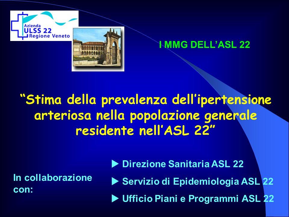 Stima della prevalenza dellipertensione arteriosa nella popolazione generale residente nellASL 22 Direzione Sanitaria ASL 22 Servizio di Epidemiologia