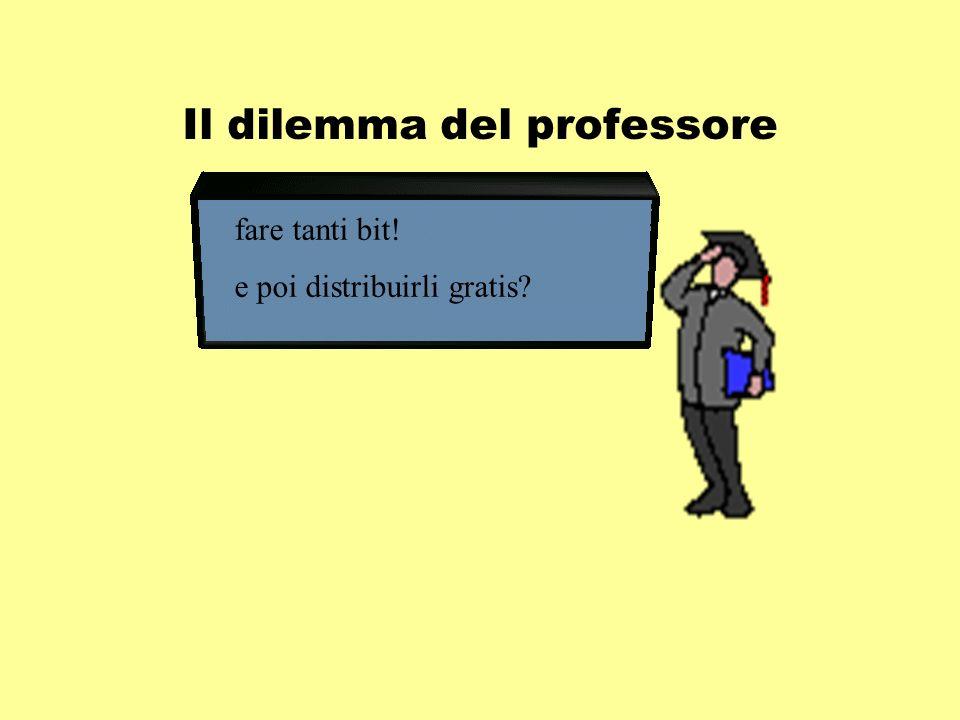Il dilemma del professore fare tanti bit! e poi distribuirli gratis