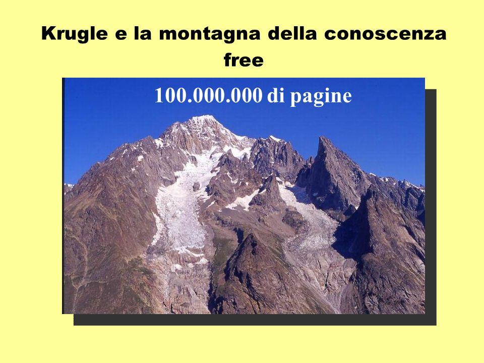 Krugle e la montagna della conoscenza free 100.000.000 di pagine