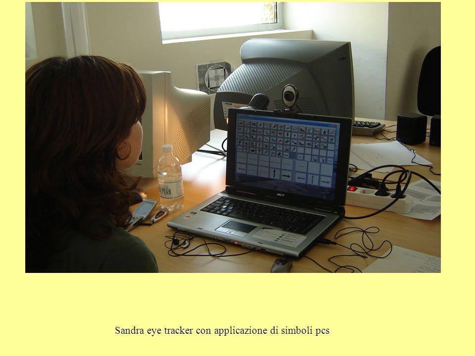 Sandra eye tracker con applicazione di simboli pcs