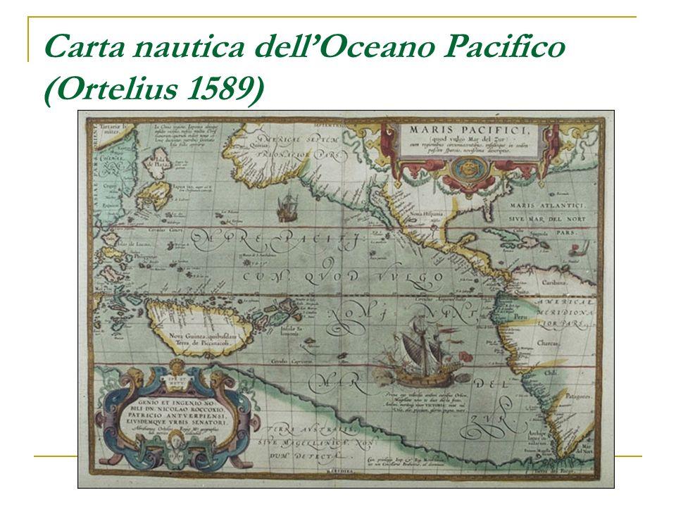 Carta nautica dellOceano Pacifico (Ortelius 1589)