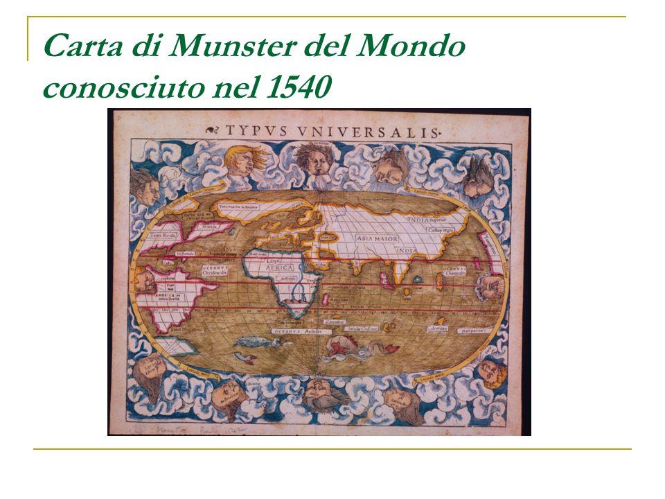 Carta di Munster del Mondo conosciuto nel 1540