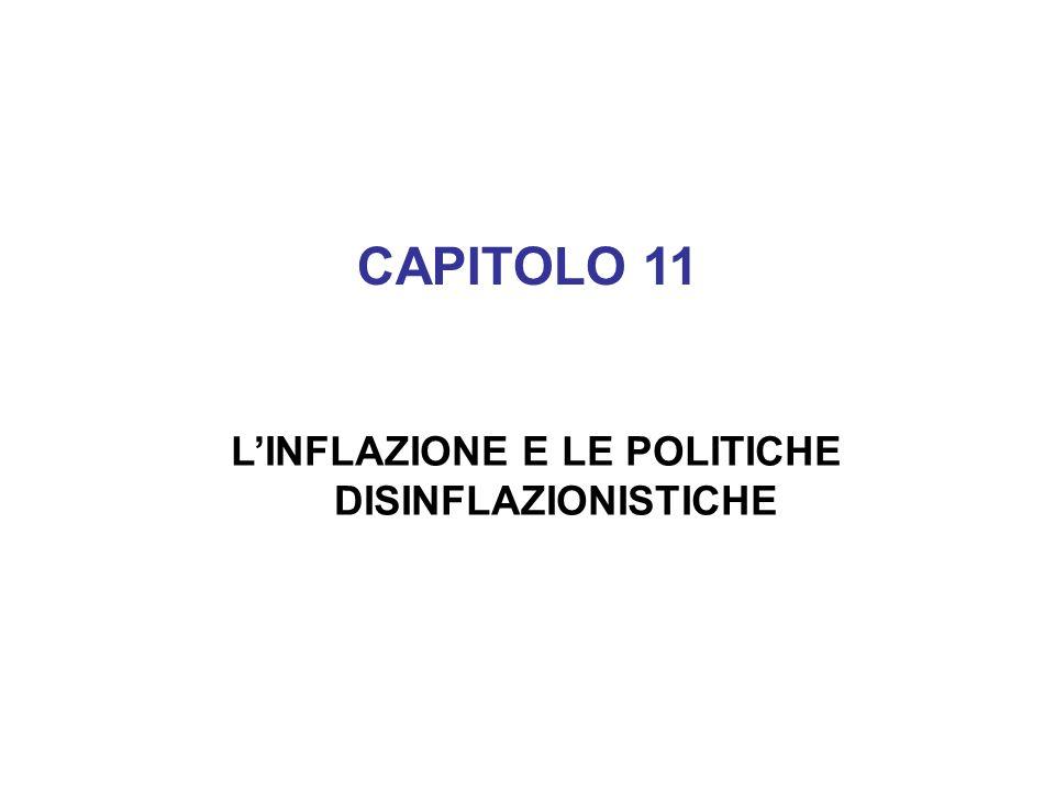 CAPITOLO 11 LINFLAZIONE E LE POLITICHE DISINFLAZIONISTICHE