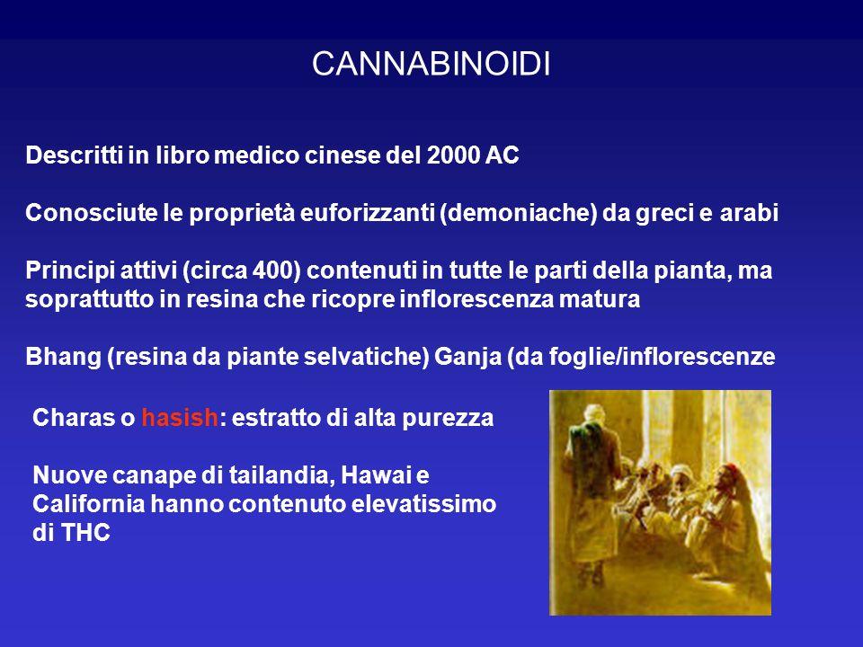 Descritti in libro medico cinese del 2000 AC Conosciute le proprietà euforizzanti (demoniache) da greci e arabi Principi attivi (circa 400) contenuti