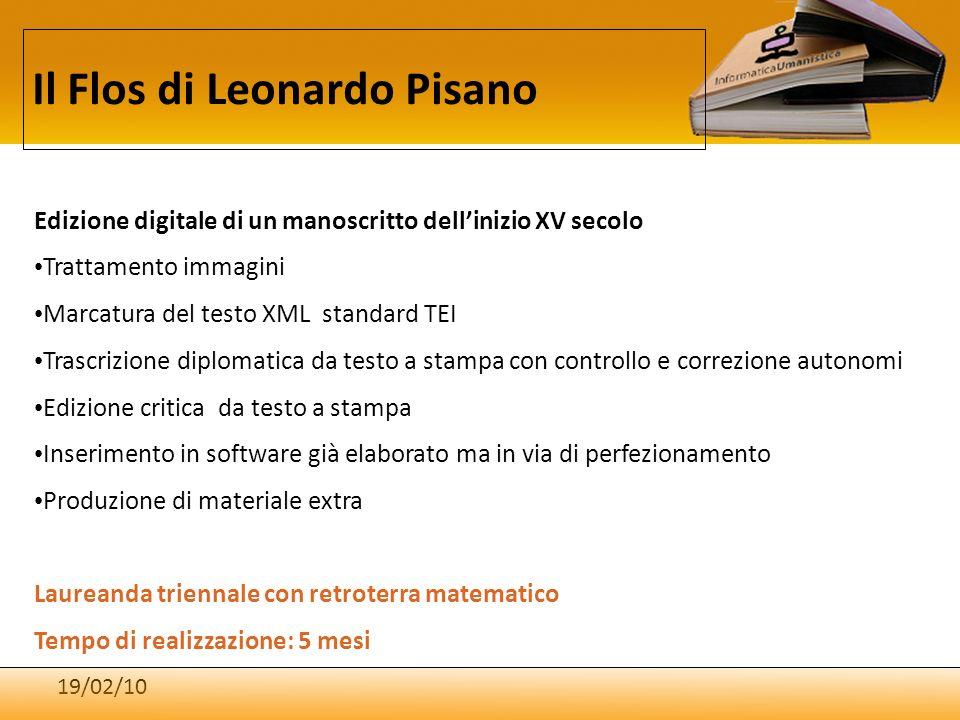 19/02/10 Il Flos di Leonardo Pisano