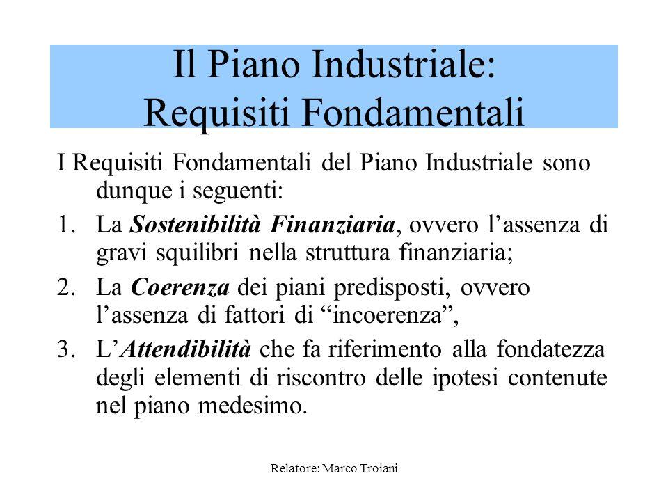 Relatore: Marco Troiani (segue) -La presenza di gravi squilibri nella struttura finanziaria; -Un critico posizionamento competitivo nei principali set