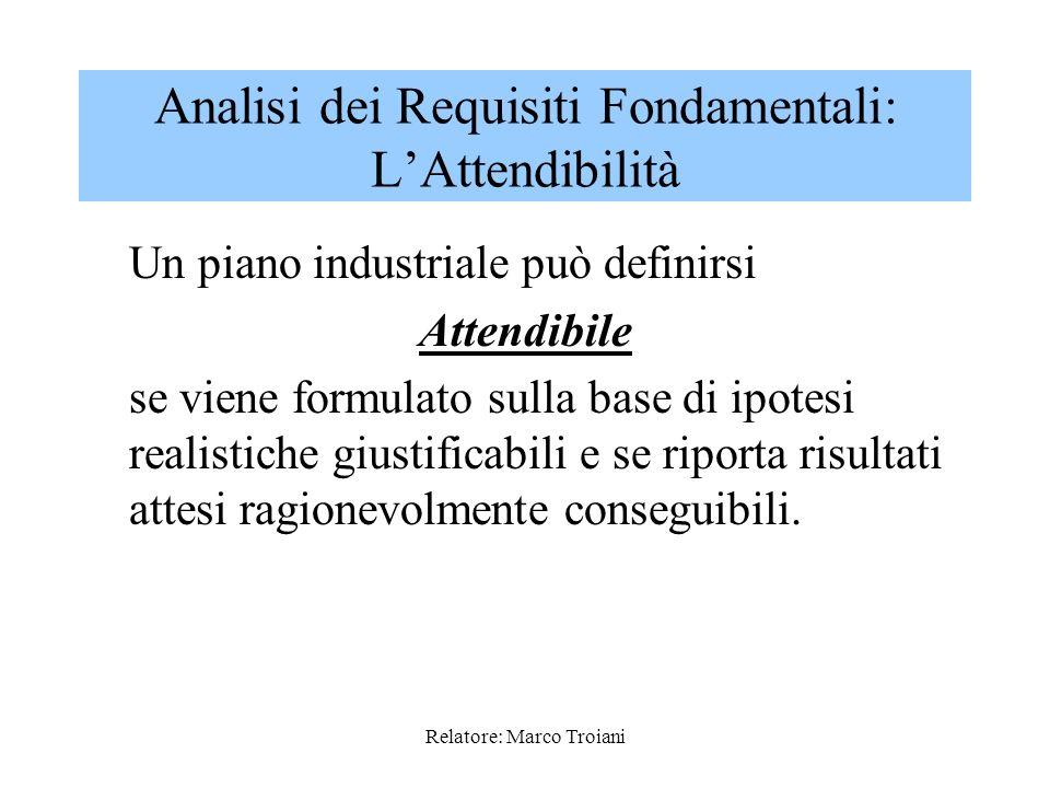 Relatore: Marco Troiani Altro aspetto della COERENZA riguarda al realizzabilità dellAction Plan e più precisamente la compatibilità tra: - Azioni Pian