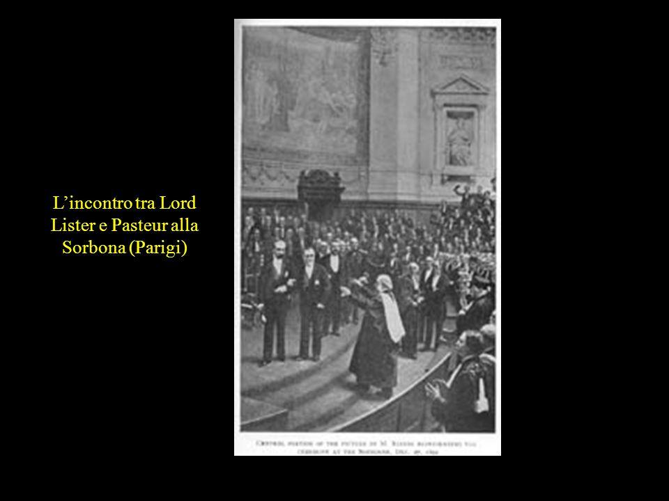 Lincontro tra Lord Lister e Pasteur alla Sorbona (Parigi)