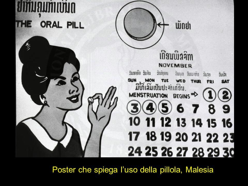Poster che spiega luso della pillola, Malesia