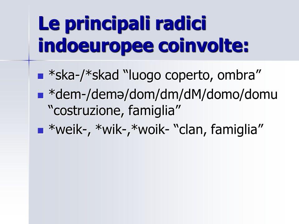 Attestazioni delle radici per larea semantica di casa : dallindoeuropeo alle lingue antiche.