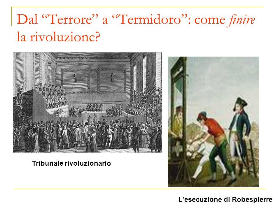 Dal Terrore a Termidoro: come finire la rivoluzione? Tribunale rivoluzionario Lesecuzione di Robespierre